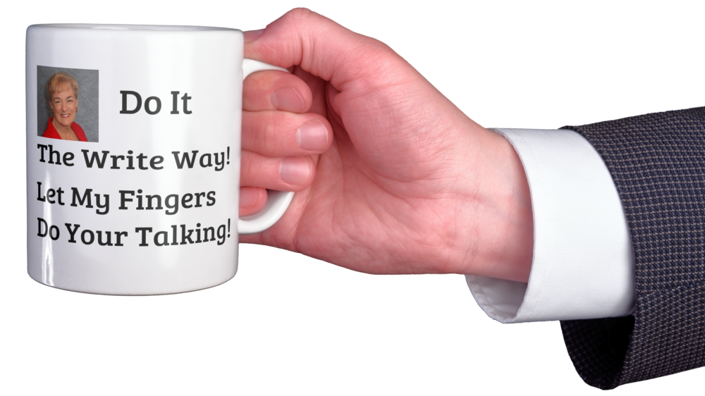 Coffe mug - Do It The Write Way - Let My Fingers Do Your Talking