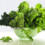 Dark green leafy fresh vegetables