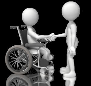 figure in wheelchair