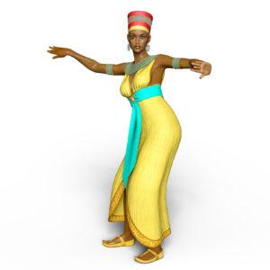 woman in turban dancing