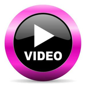 video pink glossy icon parenting