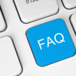 blue FAQ (frequently asked questions) button on keyboard