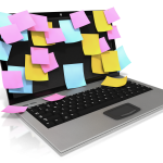 laptop_ with sticky_notes_everywhere