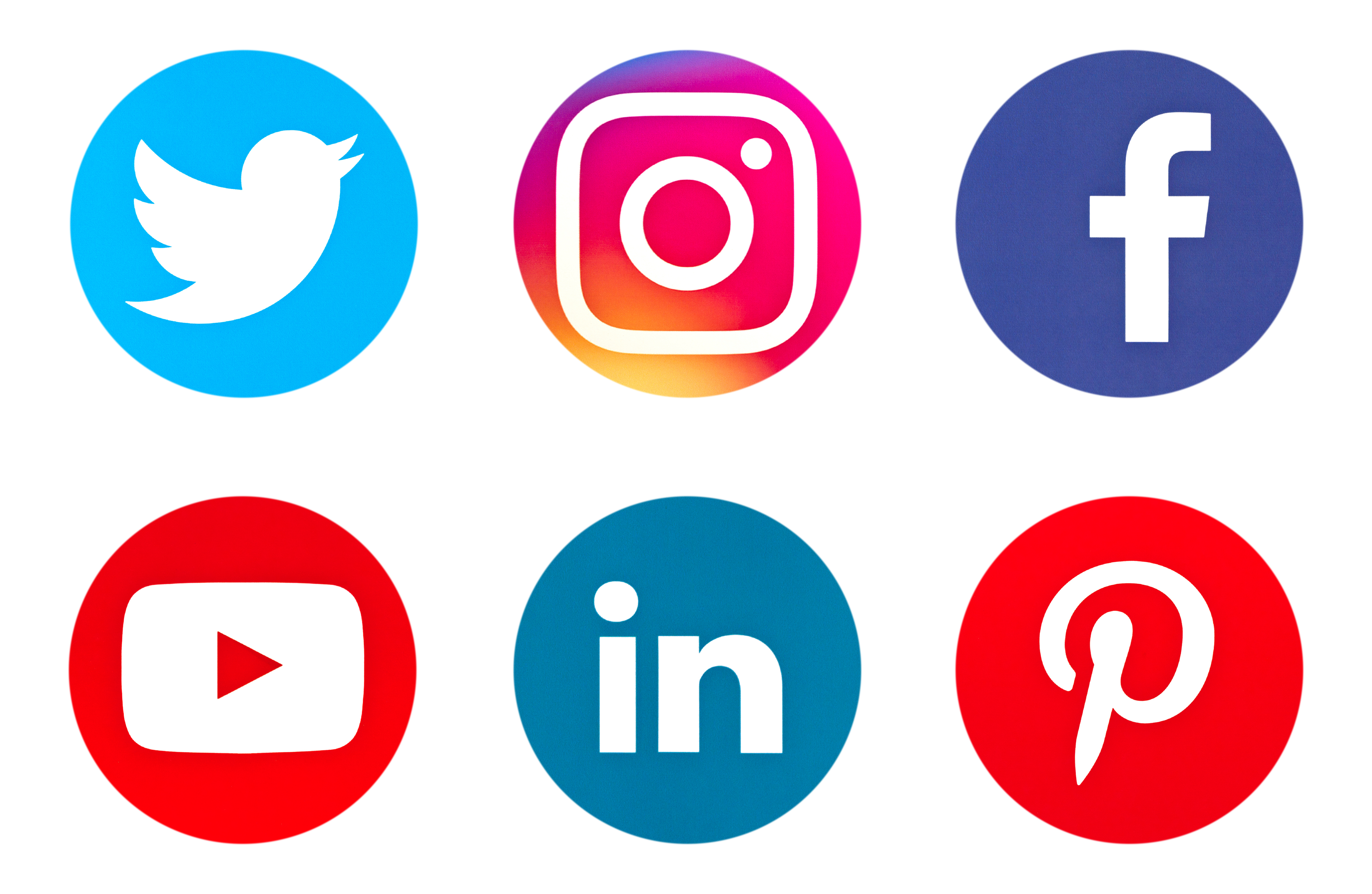 images of various social media icons