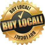 "Gold and black image saying ""Buy Local"""
