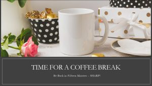 Infographic Coffee Break Elegant Black and White PolkaDot Tea Set black ribbon My Persuasive Presentations