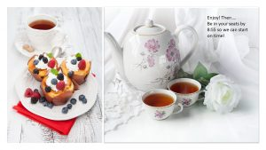 Infographics - Brunch Muffins, Berries and Tea - My Persuasive Presentations, LLC