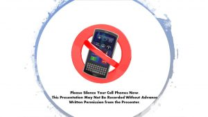 Silence cell phones - do not record