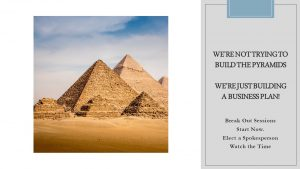 Pyramids - not trying to build pyramids, just a business plan