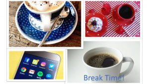 Infographics Break Time Red White and Blue Collection
