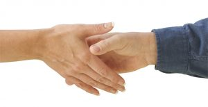 shaking hands in agreement on price and fees