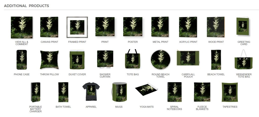 Yucca Blossoms Merchandise