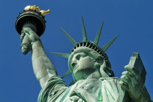 statue of liberty holding torch of freedom is a target of some iconoclasts