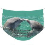 dolphin face mask from Nancy's Novelty Photos on Pixels Products