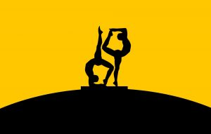 Photographer Mohamed Hassan's illustration of yoga poses in silhouette against the sky
