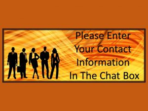 business infographics - put contact info in the chat box