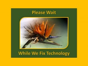 Please Wait - Technical Diffulties Infographic