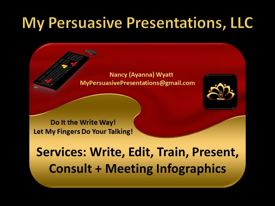 Logo for My Persuasive Presentations, LLC