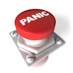 a red panic button