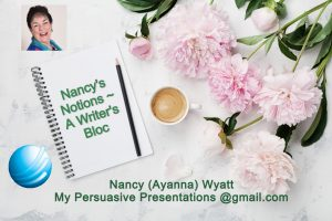 Logo for Nancy's Notions ~ A Writer's Bloc