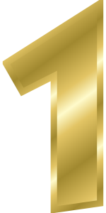 the number one - 1