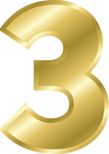 the number three - 3