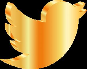 gold icon for social media app Twitter
