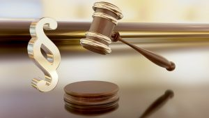 gavel and dollar signs - court decision re bad references