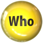"""yellow circles with the word """"who"""" re who will read the references"""
