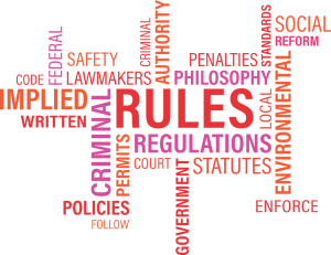 word cloud - rules, regulations, policies, references