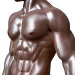 greased torso of a bodybuilder for #vss365 #butter