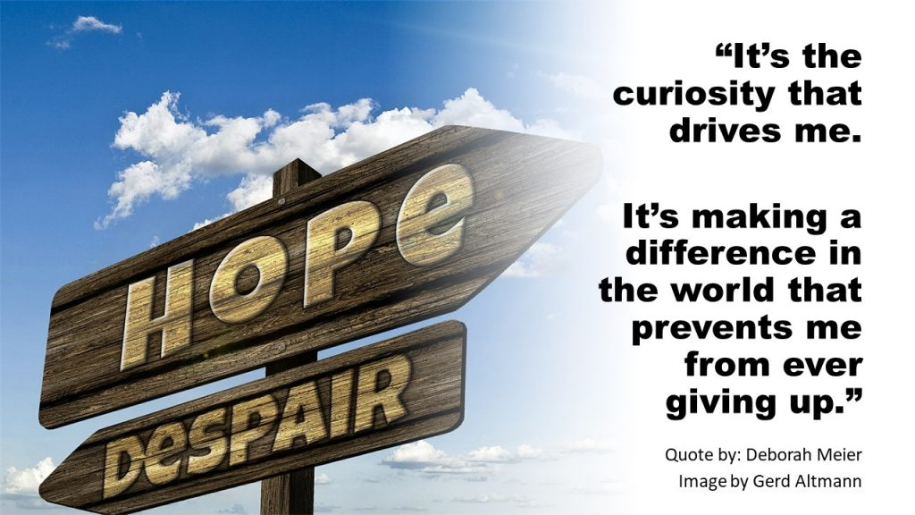 Two arrows pointing in opposite directions. One for Hope; the other for Despair by Gerd Altmann