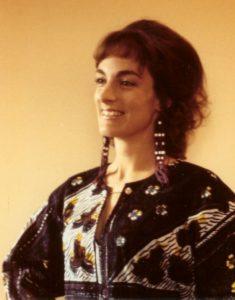Nancy wearing a dashiki many moons ago