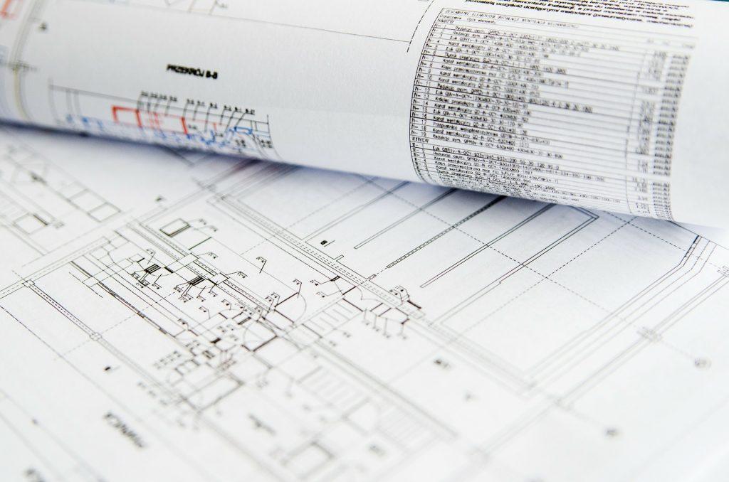 architects blueprint and legend