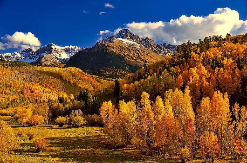 Rocky Mountains in Fall by David Mark