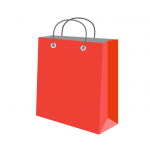 red shopping bag by FajarBud186 of Pixabay