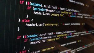 screenshot of software programming