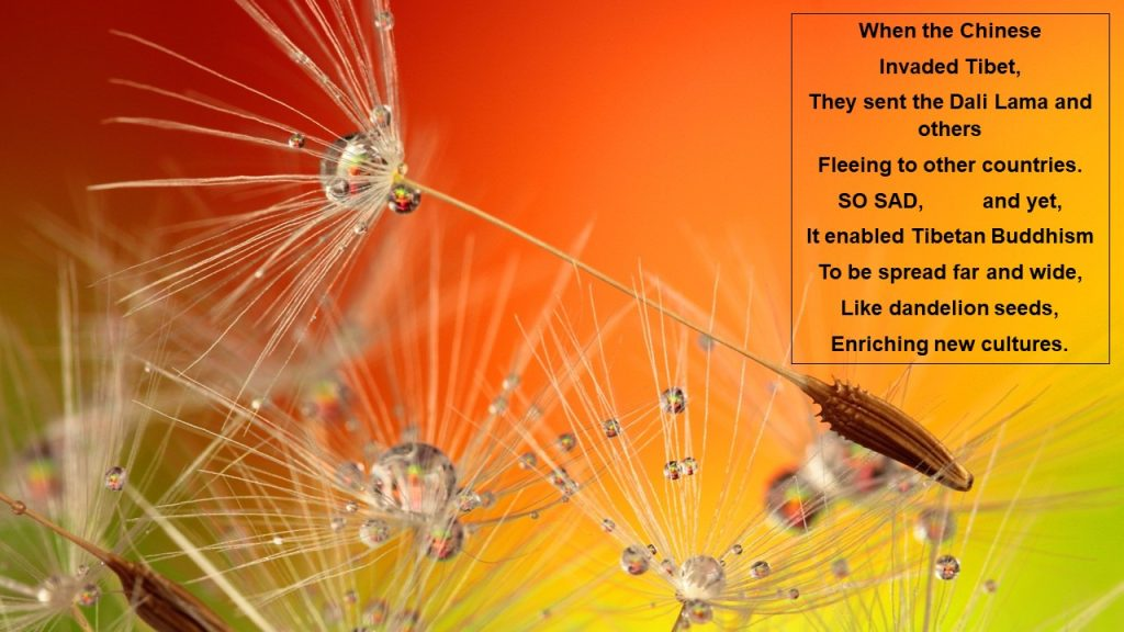 water-jeweled dandelion seeds with #vss #prompt by Nancy (Ayanna) Wyatt