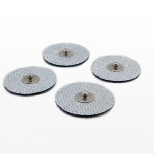 Adhesive sticky pads with electrodes to match with cables