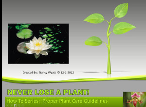Never Lose Another Plant