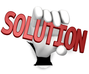 """hand holding word """"Solution"""" for PDFs on WordPress"""